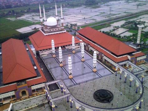 Masjid Agung Semarang Tampak dari Menara